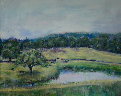 Asheville Painting - Lower Pond by Jennings Ingram
