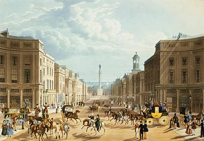 Lower Regent Street, Pub. By Ackermann Print by Thomas Hosmer Shepherd