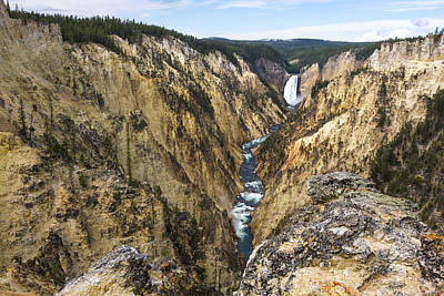 Water Photograph - Lower Yellowstone Canyon Falls - Yellowstone National Park by Brian Harig