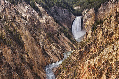 Unspoiled Art Photograph - Lower Yellowstone Falls by Mark Kiver