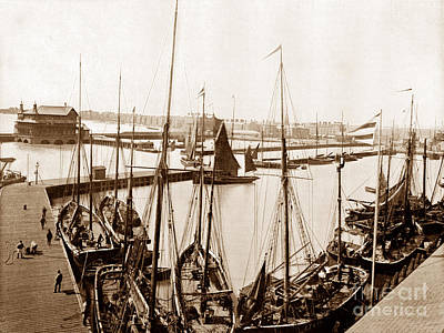 Lowestoft Harbour England Print by The Keasbury-Gordon Photograph Archive