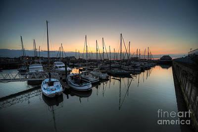 Lowestoft Marina At Dawn  Print by Rob Hawkins