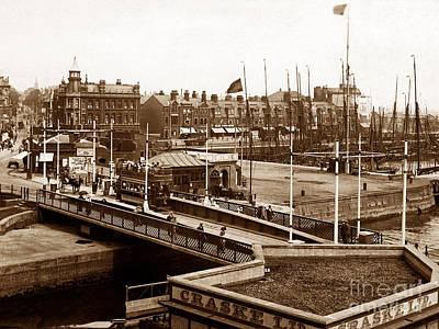 Lowestoft Swing Bridge England Print by The Keasbury-Gordon Photograph Archive