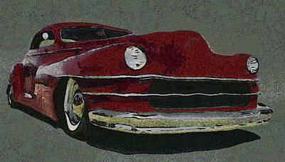 Lowrider Digital Art - Lowrider Custom by Ernie Echols