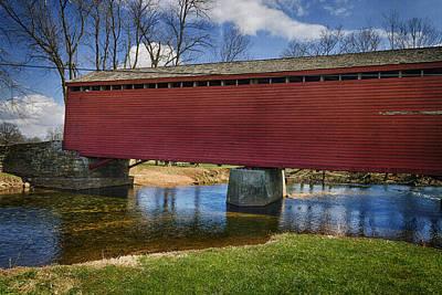 Bridge Photograph - Loys Station Covered Bridge II by Joan Carroll