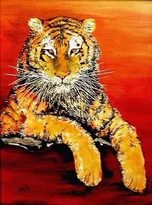 Lsu Tiger Print by Stephen Broussard