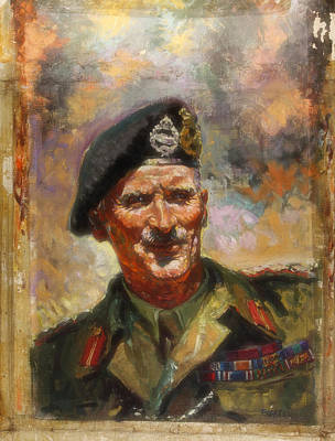 General Concept Painting - Lt General Sir Bernard Montgomery by Mountain Dreams