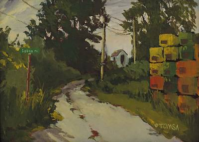 Maine Roads Painting - Lubee Lane by Bill Tomsa