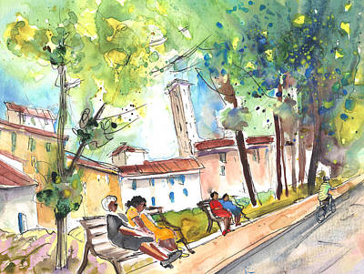 Lucca In Italy 03 Print by Miki De Goodaboom