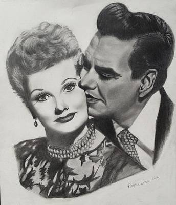 Lucille Drawing - Lucille Ball And Desi Arnaz by Rodrigo Luna