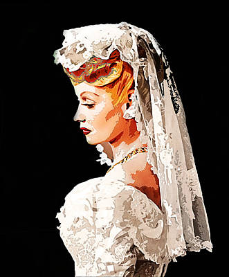 Lucille Ball Bride Print by Nuno Marques