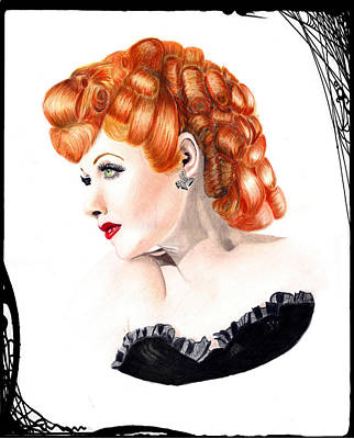 Lucille Drawing - Lucille Ball Illustration by Veronica Crockford