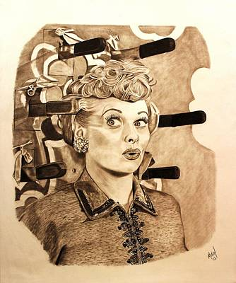 Lucille Ball Print by Randy Mitchell