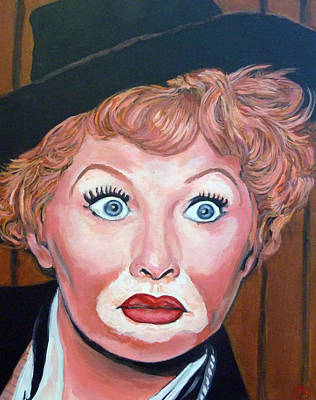 Celebrity Portrait Painting - Lucille Ball by Tom Roderick
