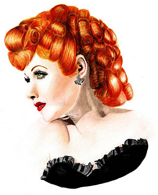 Lucille Drawing - Lucille Ball by Veronica Crockford
