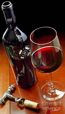 Wine Vineyard Mixed Media - Luck Of The Draw by Jon Neidert