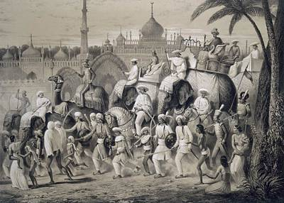 Elephants Drawing - Lucknow, The Principal Street by A. Soltykoff