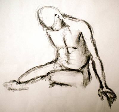 Male Nude Drawing Drawing - Lucky Charms by Debi Starr