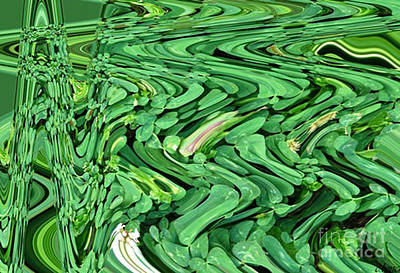 Abstract Forms Digital Art - Lucky Clovers by Carol Lynch