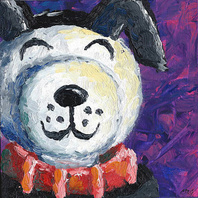 Lucky Dogs Painting - Lucky by Connie Mobley Medina