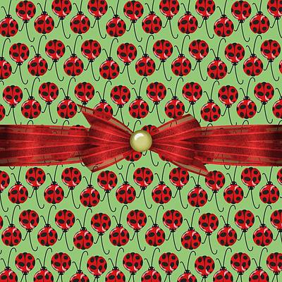Ladybug Digital Art - Lucky Ladybugs by Debra  Miller