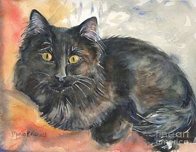Animal Shelter Painting - Lucky by Maria's Watercolor