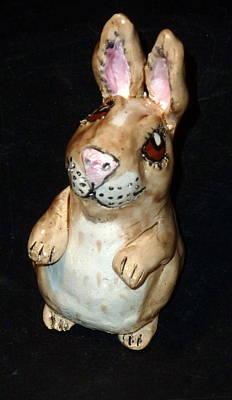 Sculpture - Lucky Standing Rabbit by Debbie Limoli