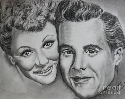 Lucille Drawing - Lucy And Ricky by Sandra Valentini