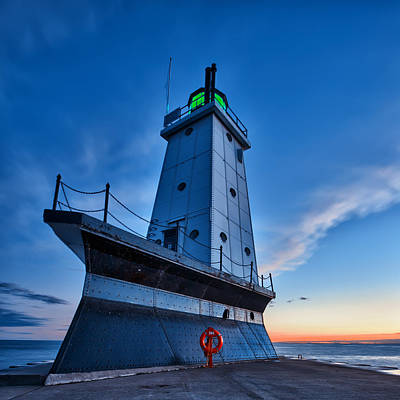 Ludington Lighthouse Print by Sebastian Musial