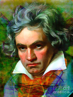 Ludwig Van Beethoven 20140122v1 Print by Wingsdomain Art and Photography