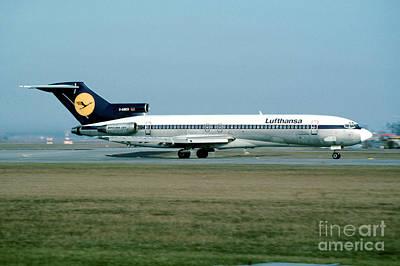 Lufthansa Boeing 727 Print by Wernher Krutein