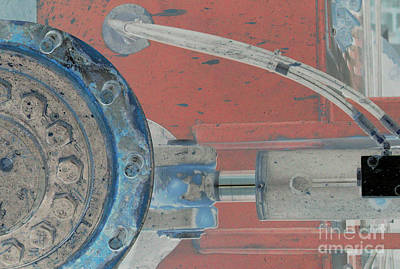 Grate Photograph - Lug Nut Wheel Left  by Heather Kirk