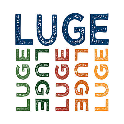 Luge Cute Colorful Print by Flo Karp