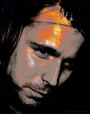 Neil Young Digital Art - Lukas Nelson by Visual Artist  Frank Bonilla