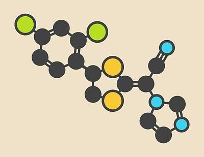 Luliconazole Antifungal Drug Molecule Print by Molekuul