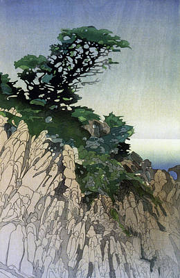 Early California Landscape Painting - Lum Point Lobos, C1920 by Granger