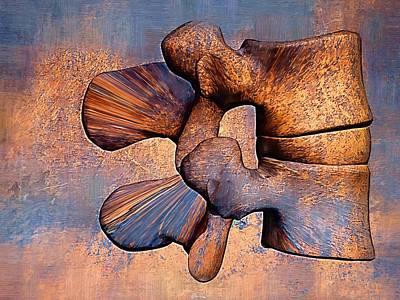 Stress Digital Art - Lumbar Spine by Joseph Ventura