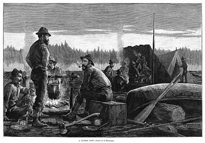 Logging Painting - Lumbering, 1887 by Granger