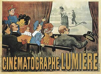 Lumiere Photograph - Lumiere, Louis And Auguste. Poster by Everett