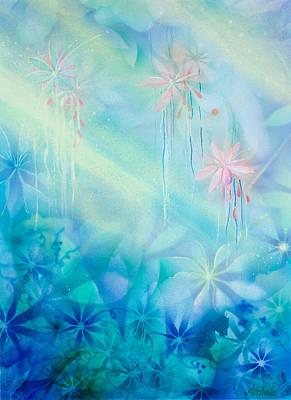 Mist Painting - Luminous Garden by Michelle Wiarda
