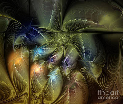 Fractal Digital Art - Luminous Star by Karin Kuhlmann