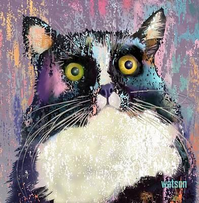 Kitten Digital Art - Luna by Marlene Watson