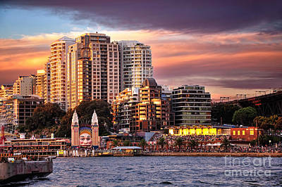 Luna Park At Golden Hour By Kaye Menner Print by Kaye Menner