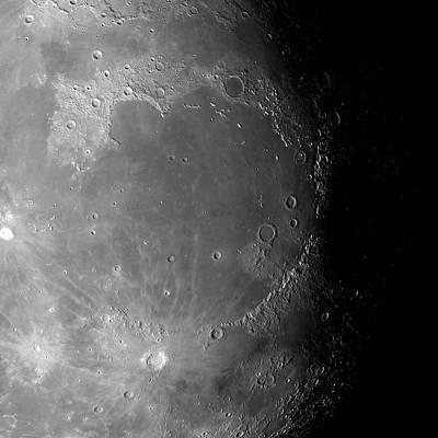 Lunar Surface Print by Detlev Van Ravenswaay