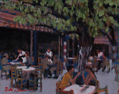 Lunch At El Grecos Original by David Zimmerman