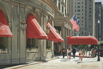 Cambridge Painting - Lunch At The Copley by Julia O'Malley-Keyes