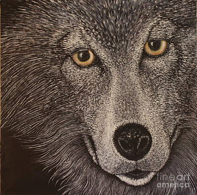 Wolf Face Painting - Lupe's Look by Trevor Griffin