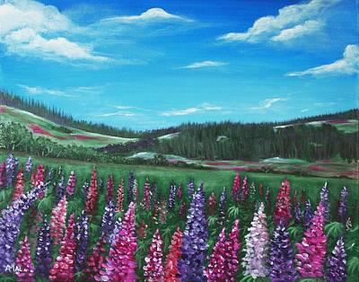 Lupine Hills Print by Anastasiya Malakhova