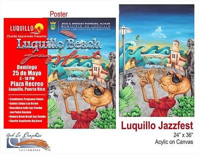 Luquillo Jazzfest Original by Kenneth Santos