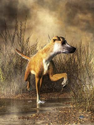 Breed Digital Art - Lurcher by Daniel Eskridge